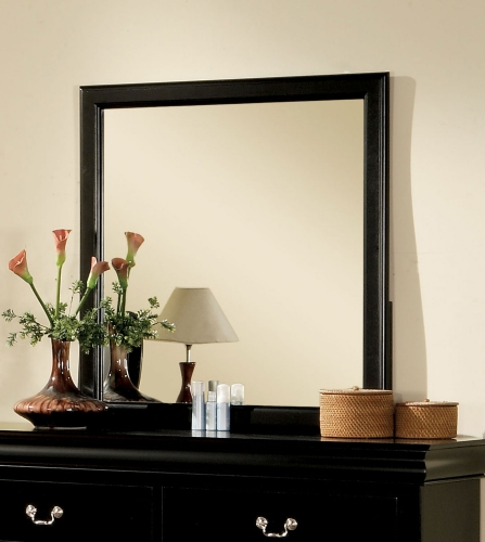 Louis Philippe III Mirror - Black