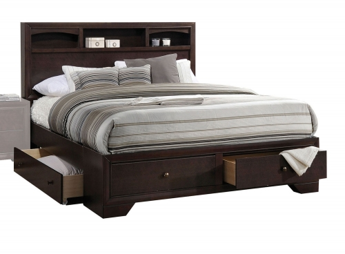 Madison II Bed with Storage - Espresso