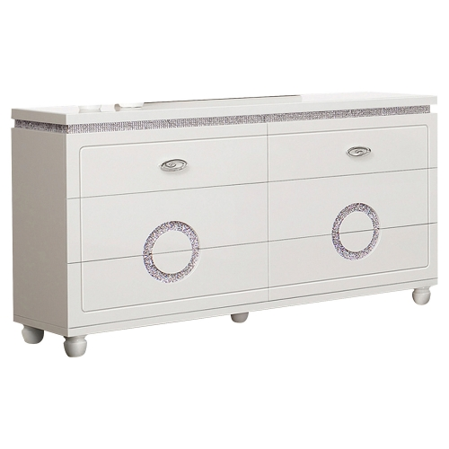 Vivaldi Dresser - White High Gloss