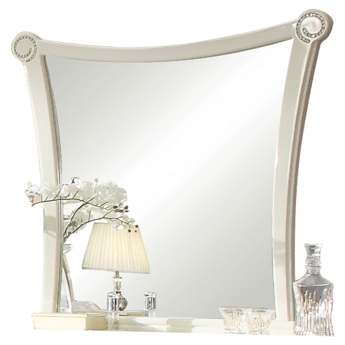 Acme Bellagio Mirror - Ivory High Gloss