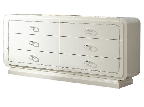 Bellagio Dresser - Ivory High Gloss