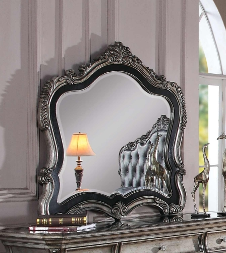 Acme Chantelle Mirror - Antique Platinum