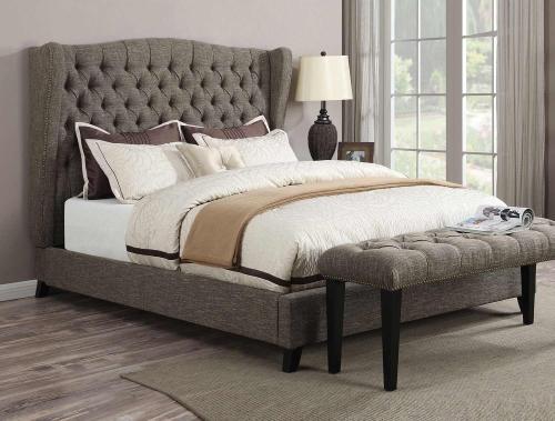 Faye Bed - 2-Tone Chocolate Linen