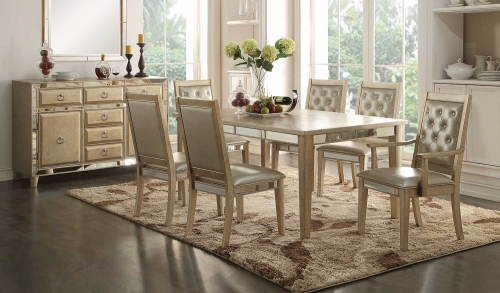 Voeville Dining Set - Antique Gold