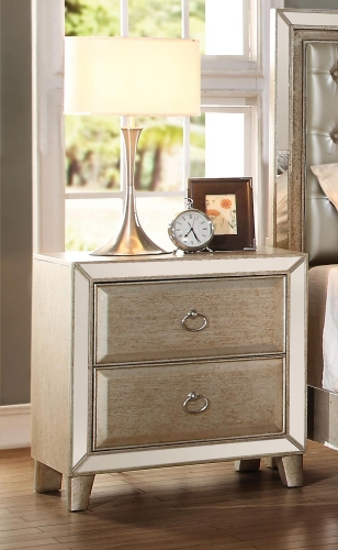 Acme Voeville Nightstand - Antique Gold