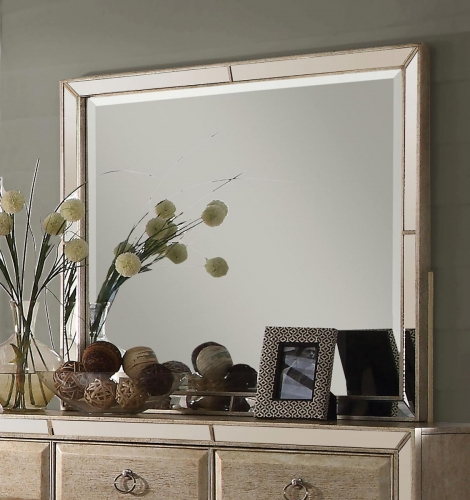 Voeville Mirror - Antique Gold