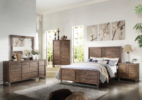 Andria Bedroom Set - Reclaimed Oak