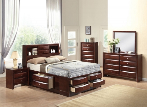 Ireland Bedroom Set with Storage - Espresso