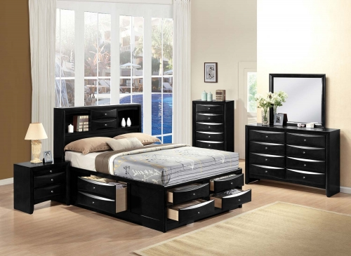Ireland Bedroom Set with Storage - Black