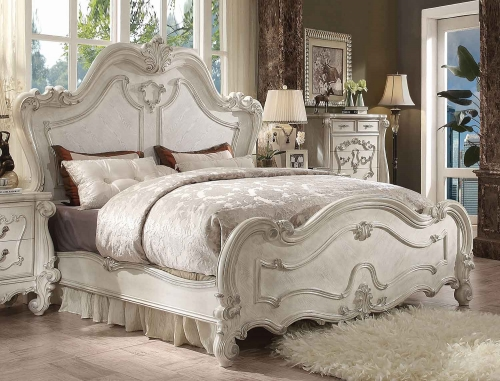 Acme Versailles Bed - Bone White