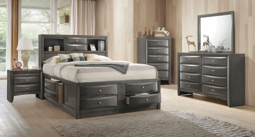 Ireland Bedroom Set with Storage - Gray Oak