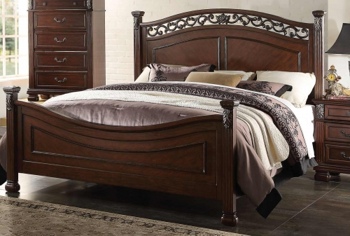 Manfred Bed - Dark Walnut