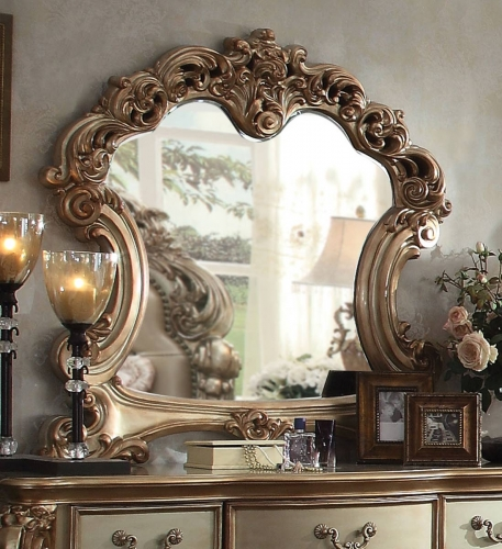 Acme Vendome Mirror - Gold Patina/Bone