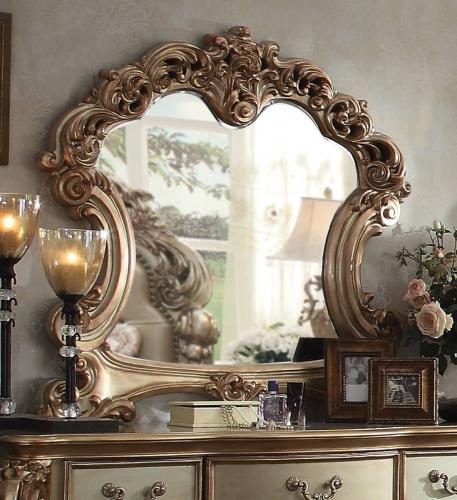Vendome Mirror - Gold Patina/Bone