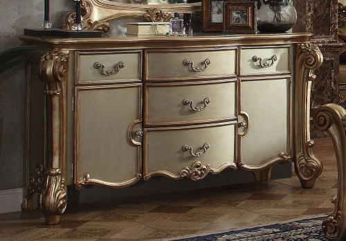 Acme Vendome Dresser - Gold Patina/Bone