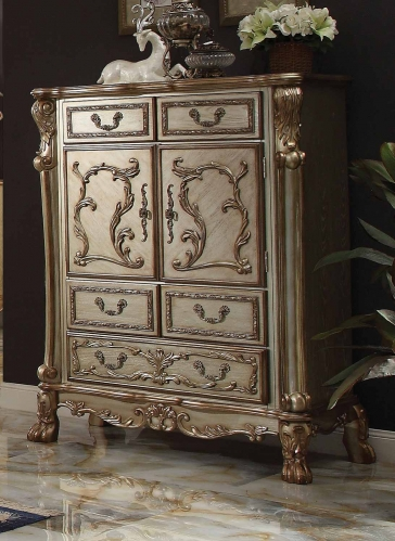 Acme Dresden Chest - Gold Patina/Bone