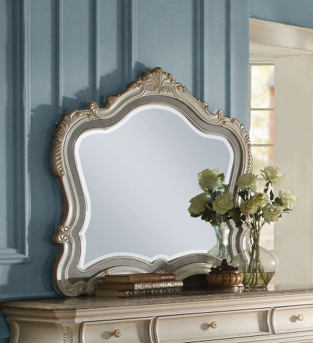 Acme Chantelle Mirror - Pearl White