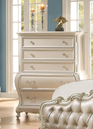 Acme Chantelle Chest - Pearl White