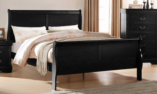 Louis Philippe Bed - Black