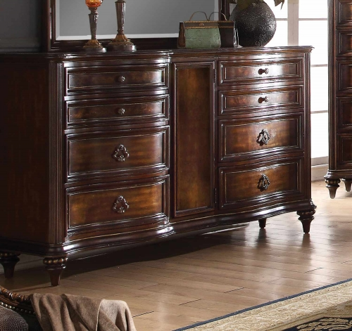 Azis Dresser - Dark Walnut