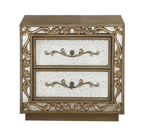 Orianne Nightstand - Antique Gold