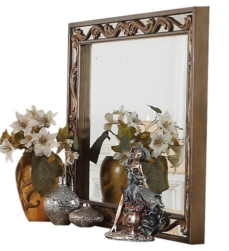 Acme Orianne Mirror - Antique Gold