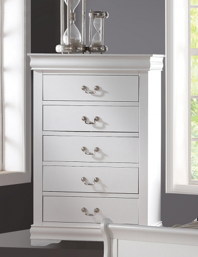 Louis Philippe Chest - White
