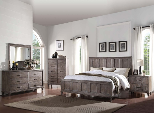 Bayonne Bedroom Set - Burnt Oak