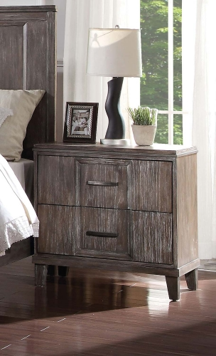 Bayonne Nightstand with USB Charging Dock - Burnt Oak