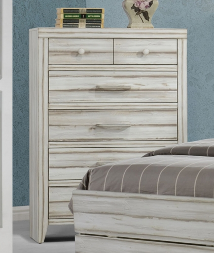 Shayla Chest - Antique White