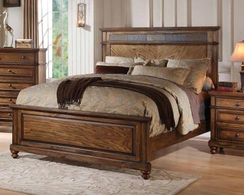 Arielle Bed - Slate/Oak