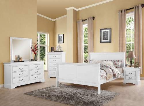 Louis Philippe III Bedroom Set - White