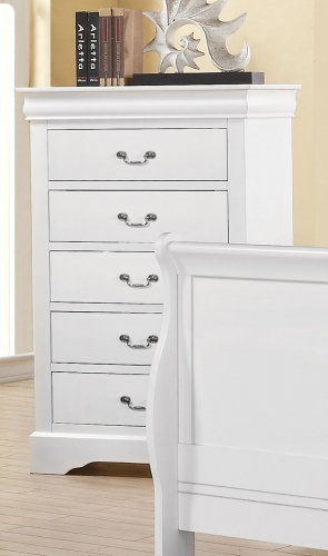 Louis Philippe III Chest - White