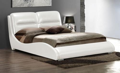 Romney Bed - White Vinyl
