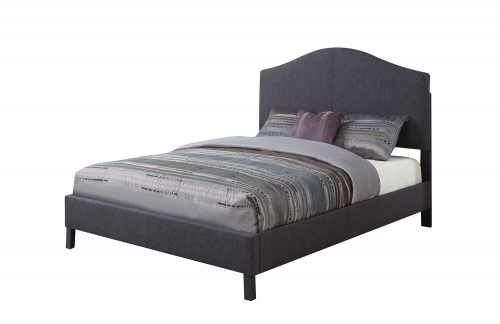 Clyde Bed - Gray Linen
