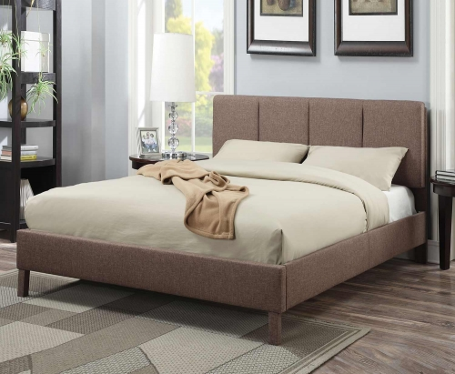 Rosanna Bed - Light Brown Linen