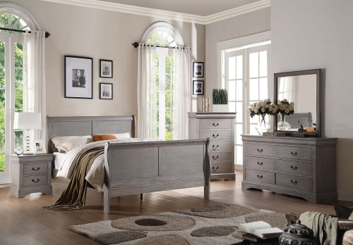 Louis Philippe III Bedroom Set - Antique Gray