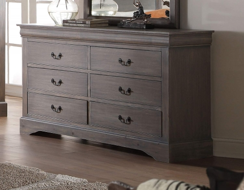 Louis Philippe III Dresser - Antique Gray