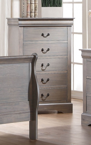 Louis Philippe III Chest - Antique Gray