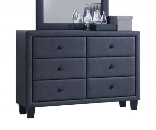 Saveria Dresser - 2-Tone Gray Vinyl