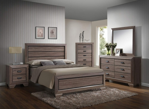 Lyndon Bedroom Set - Weathered Gray Grain