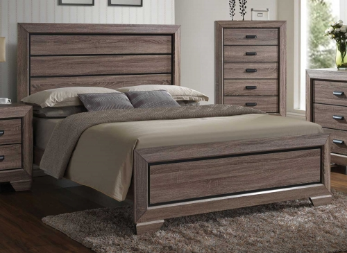 Lyndon Bed - Weathered Gray Grain