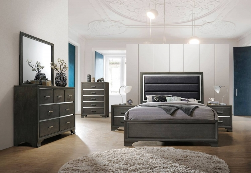 Carine II Bedroom Set - Gray
