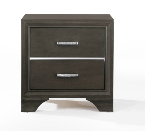 Acme Carine Nightstand - Gray