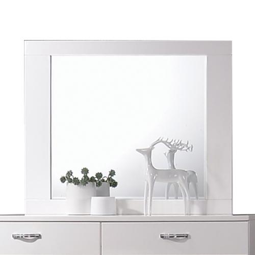 Naima II Mirror - White (High Gloss)