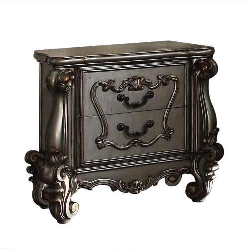 Acme Versailles Nightstand - Antique Platinum