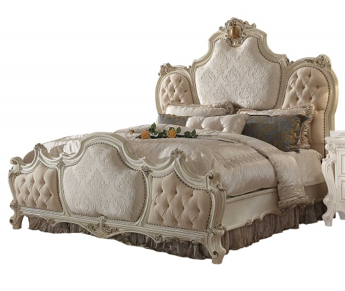 Picardy Bed - Fabric/Antique Pearl