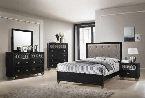 Ulrik Bedroom Set - Copper/Black