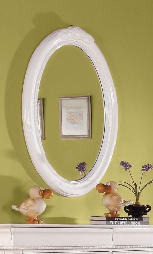 Classique Oval Mirror - White