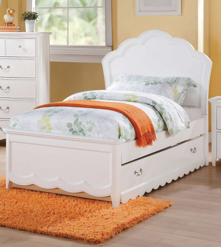 Acme Cecilie Bed (Wooden HB) - White
